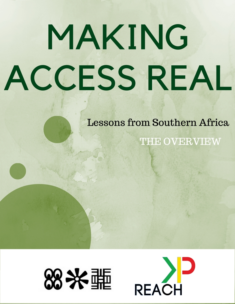 Making Access Real Publication NOW Available!!